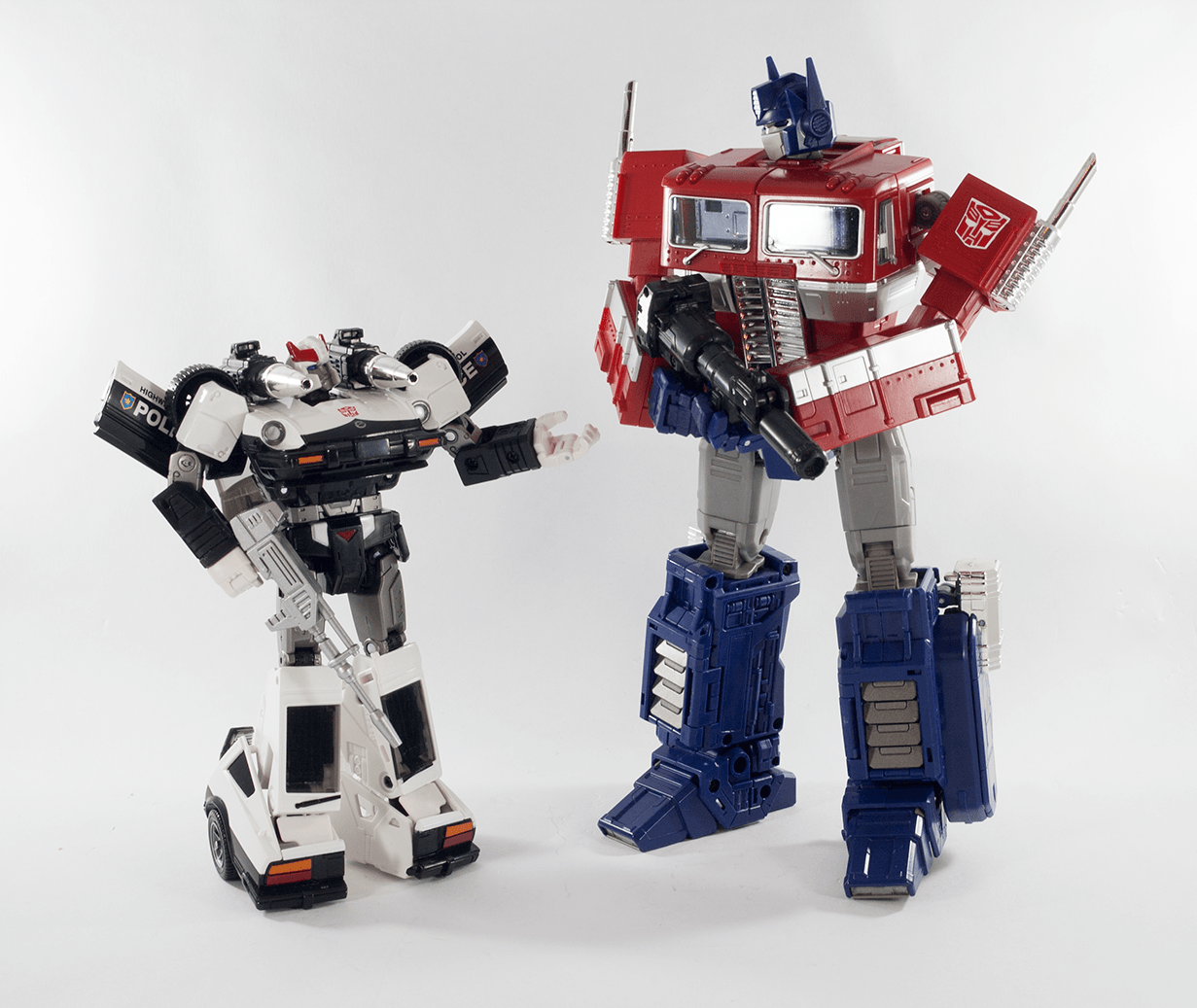 Prowl and Optimus Prime